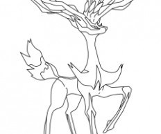 232x194 Coloriage De Pokemon Xerneas