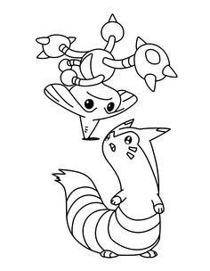 Pokemon Fennekin Coloring Pages