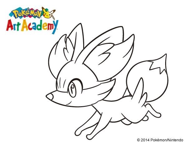 600x470 Majestic Pokemon Coloring Pages Fennekin