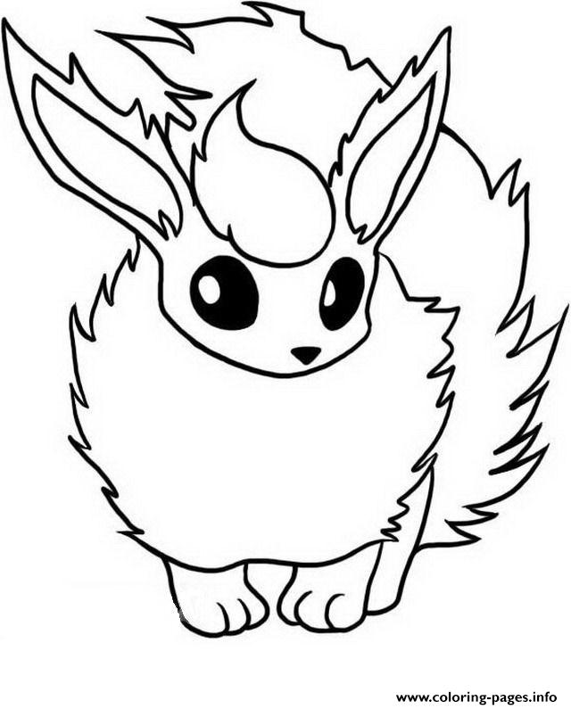 640x795 Flareon Coloring Pages Eevee Evolutions Printable Prixducommerce