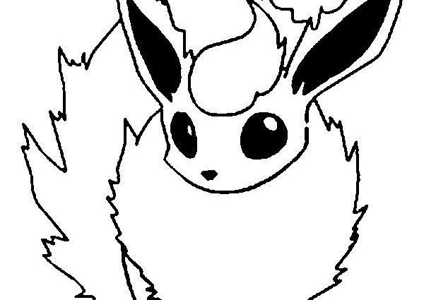 600x425 Flareon Coloring Pages Pokemon Flareon Coloring Pages Mamas