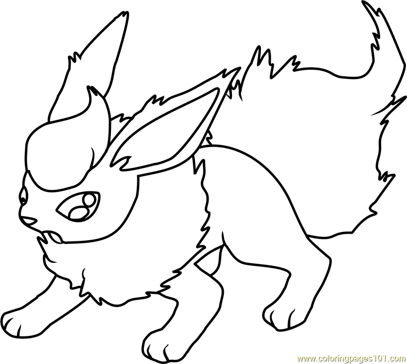 800x715 Flareon Pokemon Coloring Page