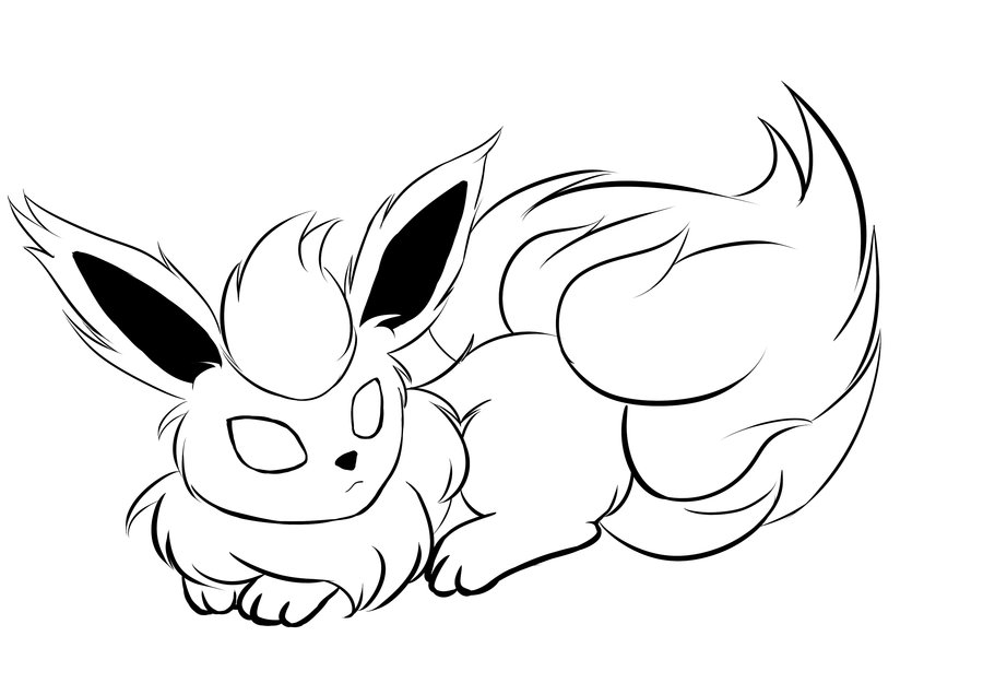 900x636 Pokemon Coloring Pages Flareon