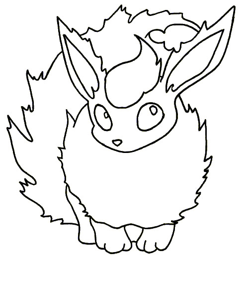 503x570 Adorable Flareon Coloring Pages Pokemon
