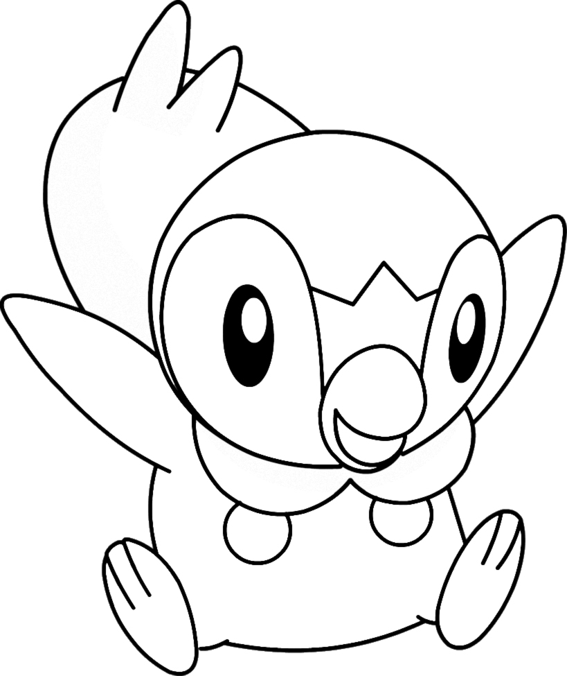 819x975 Pokemon Piplup Coloring Pages New Coloring Sheets