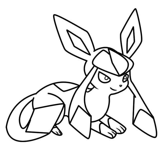 678x623 Glaceon Coloring Page