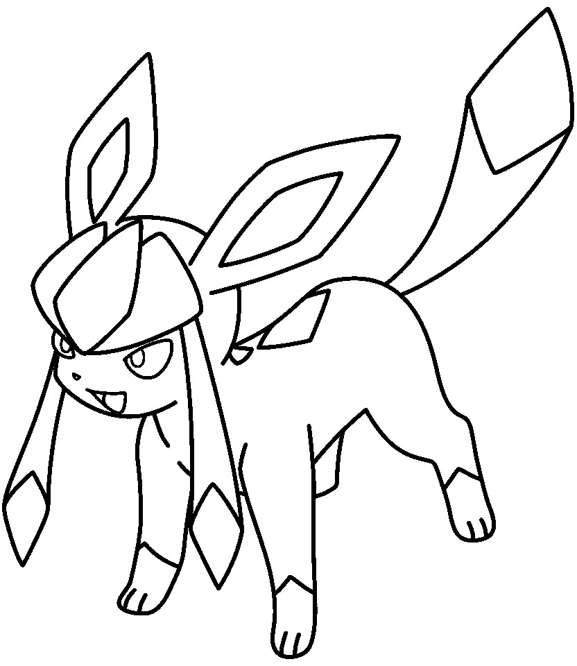 832x960 Lineart Glaceon