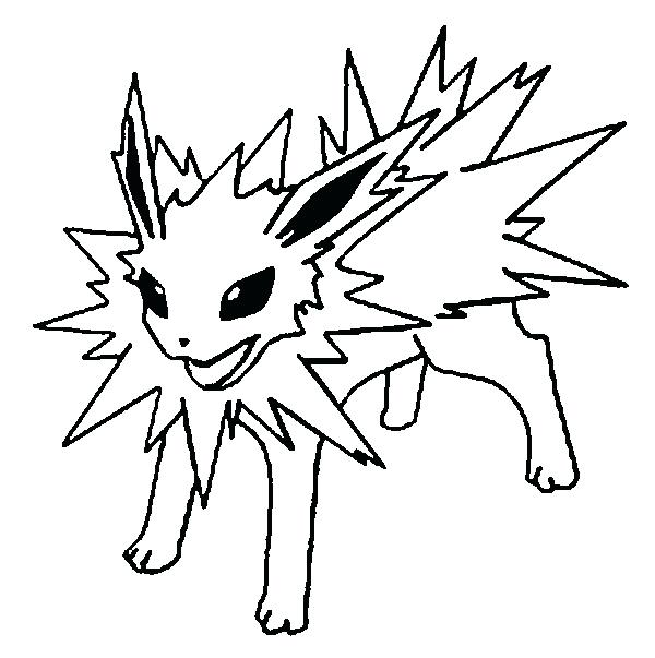 600x603 Pokemon Coloring Pages Eevee All Page With Regard To Evolutions
