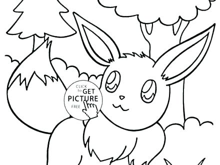 440x330 Pokemon Coloring Pages Eevee Evolutions Glaceon With Preschool
