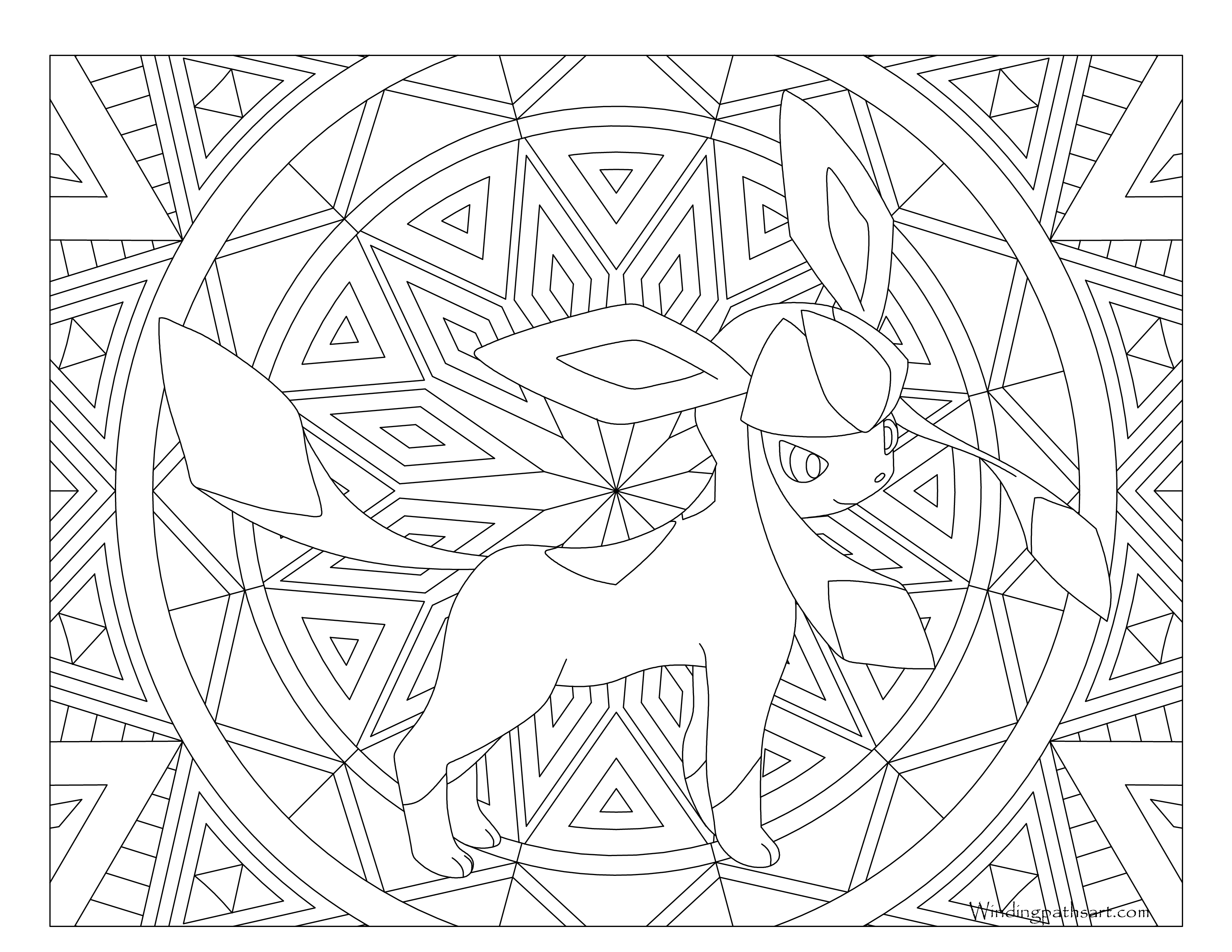 3300x2550 Glaceon Pokemon Coloring Page