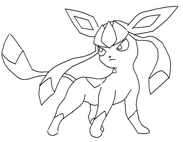 602x468 Pokemon Coloring Pages Glaceon Lineart Pokemon
