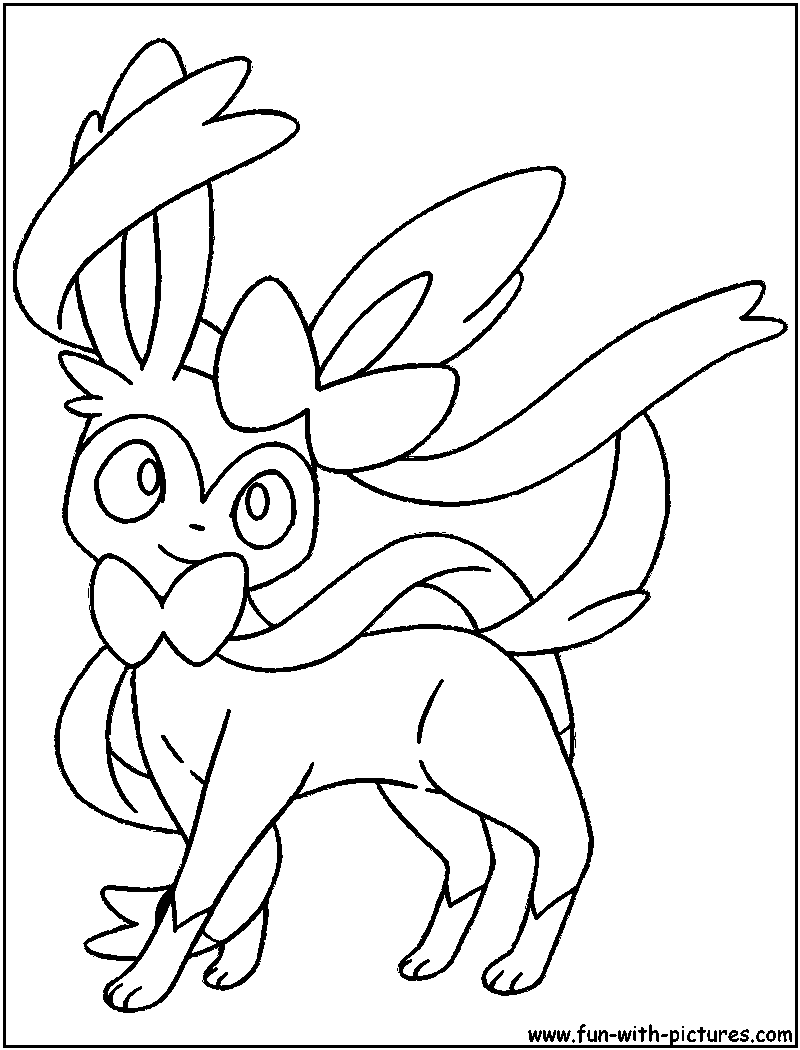 800x1050 Pokemon Sylveon Coloring Pages