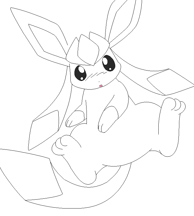 675x750 Glaceon Lineart