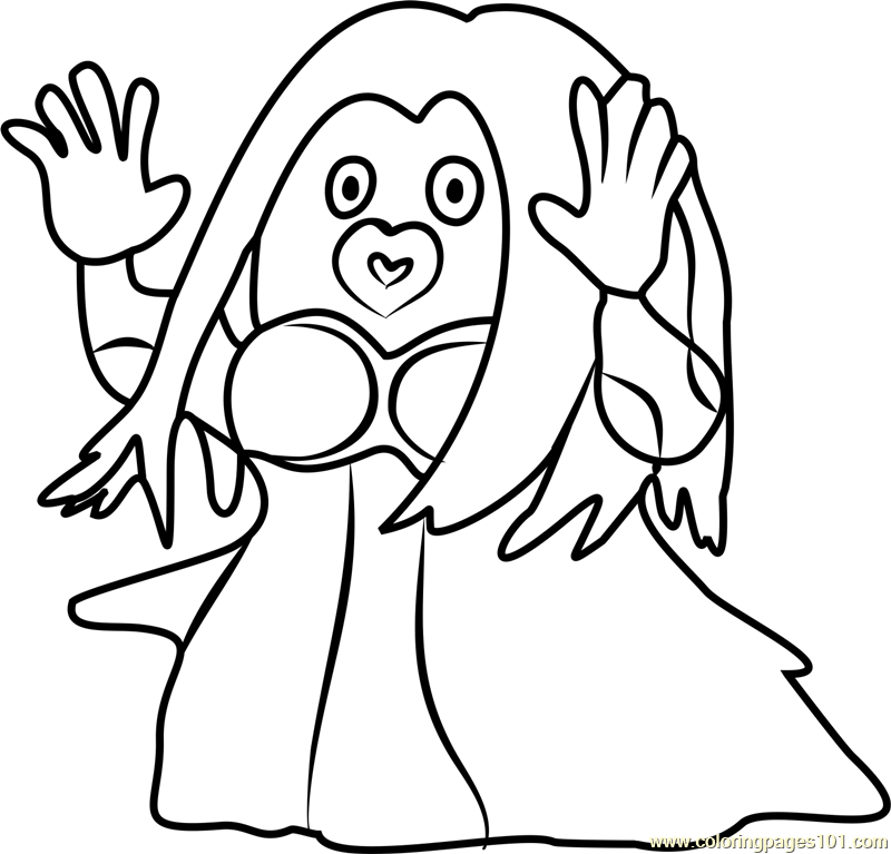 800x767 Jynx Pokemon Go Coloring Page