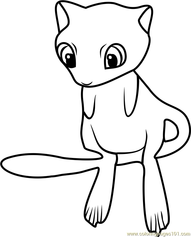 644x800 Pokemon Coloring Pages Of Mew Mew Pokemon Go Coloring Page Free
