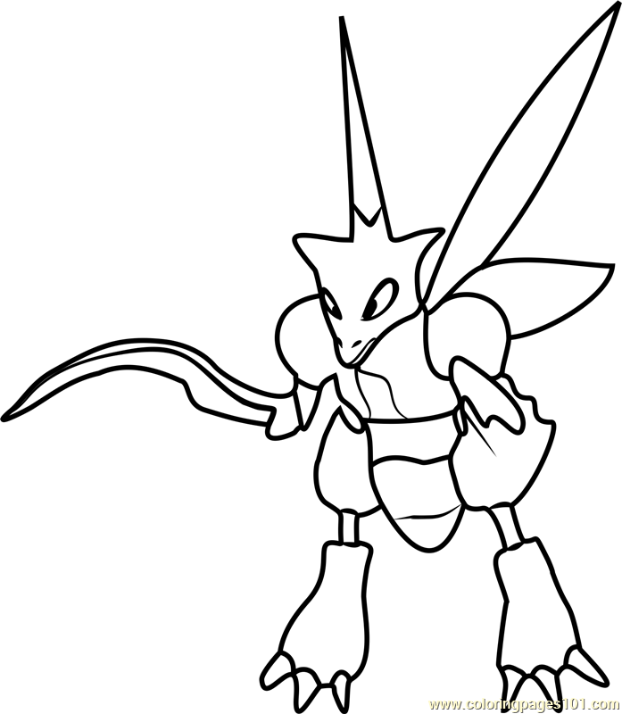 697x800 Pokemon Coloring Pages Scyther