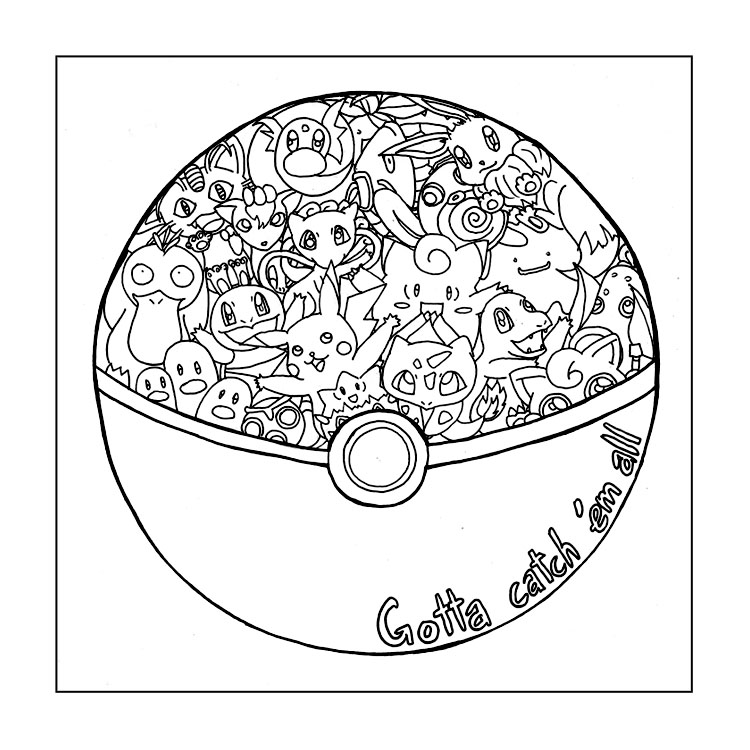 750x750 Pokemon Go Coloring Pages