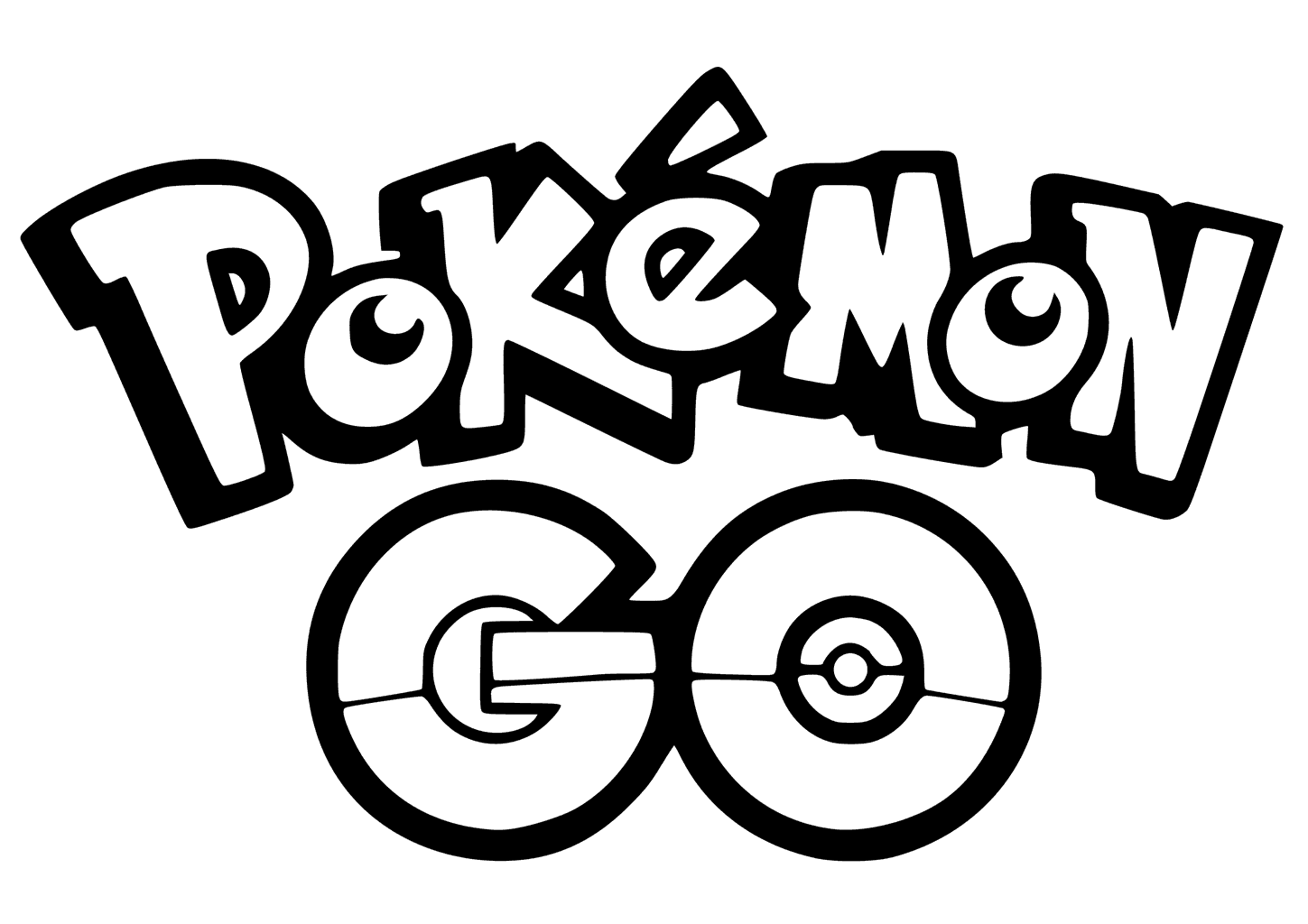 1449x1024 Pokemon Go Logo Coloring Pages Printable