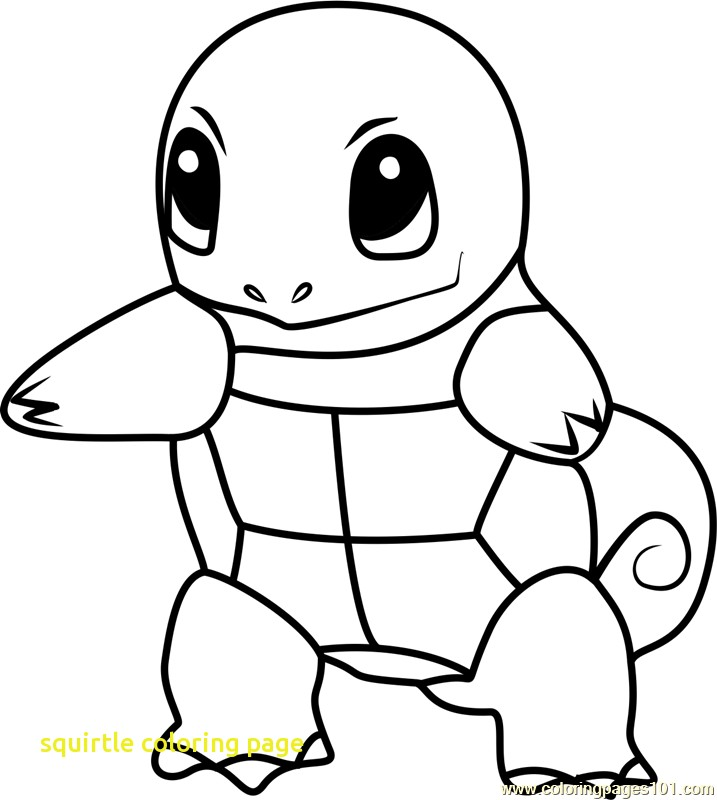 717x800 Squirtle Coloring Page With Squirtle Pokemon Go Coloring Page Free