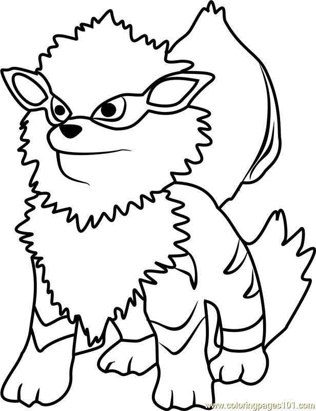 616x800 Arcanine Coloring Pages Arcanine Pokemon Go Coloring Page Free