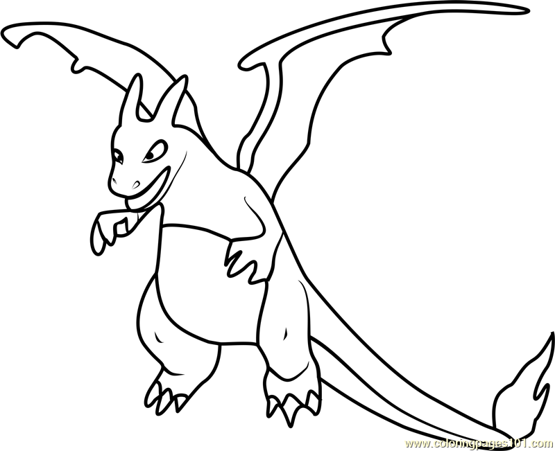 800x651 Charizard Pokemon Go Coloring Page