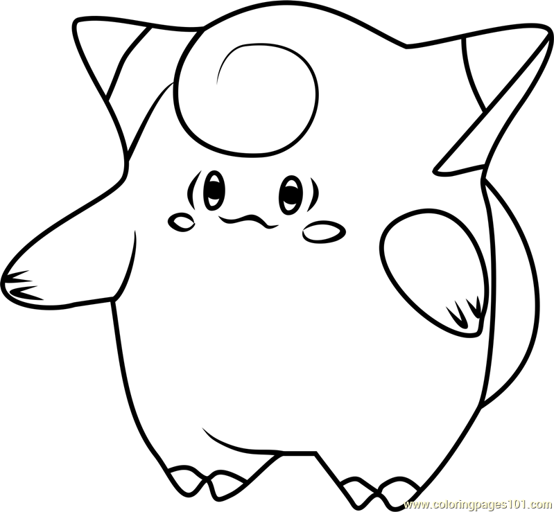 799x739 Clefairy Pokemon Go Coloring Page
