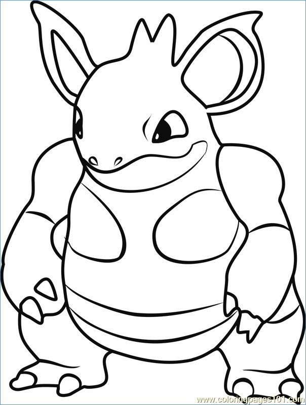 604x800 Digtrio Pokemon Coloring Page