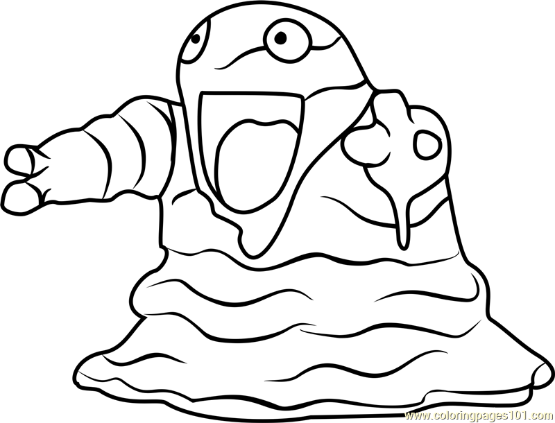 800x610 Grimer Pokemon Go Coloring Page