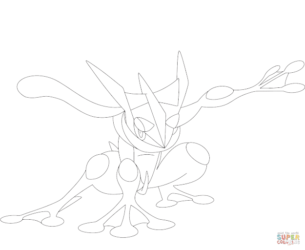625x512 Best Hd Greninja Pokemon Coloring Pages Image