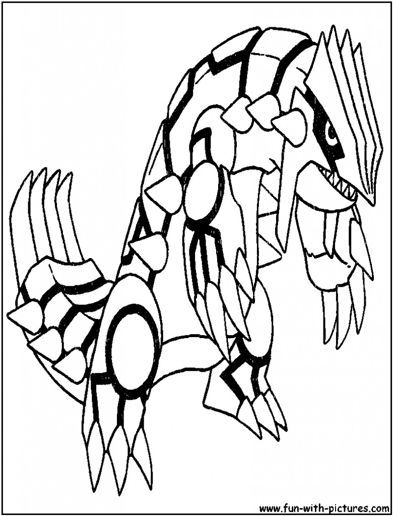 780x1024 Groudon Pokemon Coloring Pages