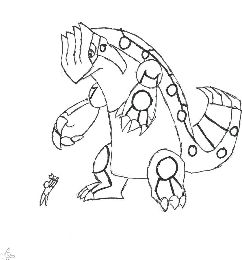 838x900 Pokemon Mega Groudon Coloring Pages Home S Fuhrer Von