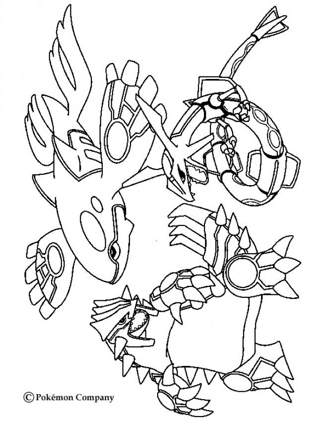 651x850 Pokemon Coloring Pages Groudon