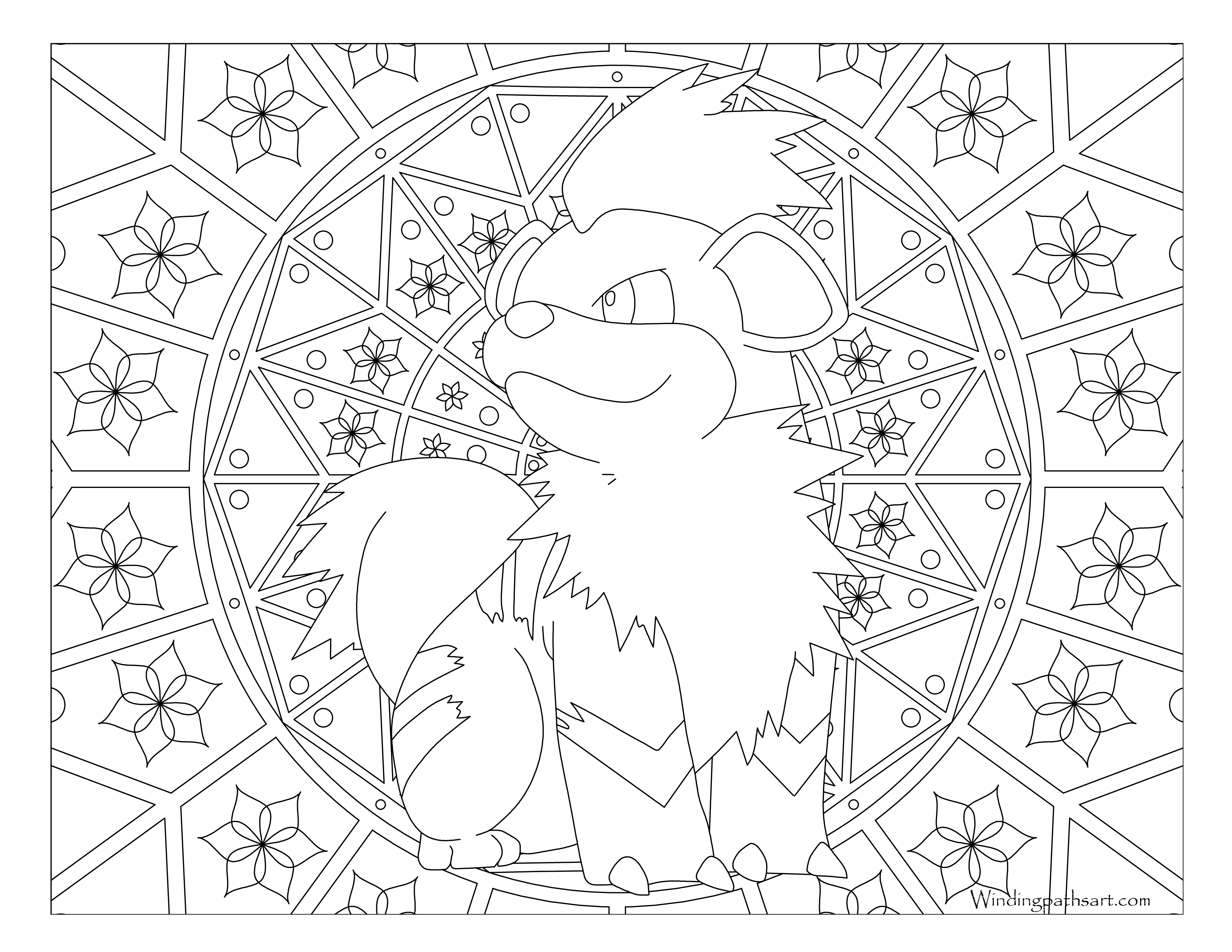 Pokemon Growlithe Coloring Pages