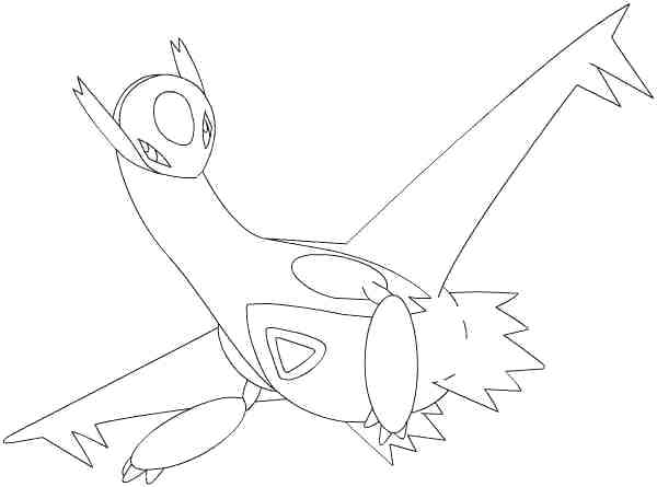 600x445 Latios Coloring Pages
