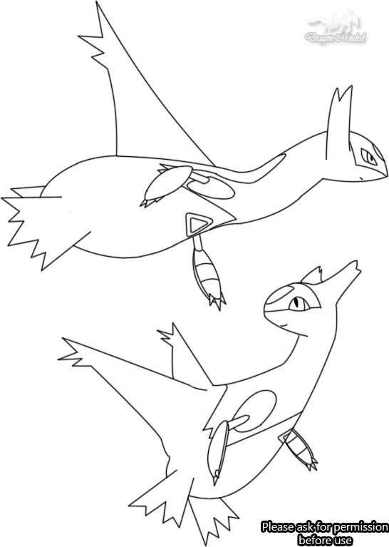 546x767 Latios And Latias Line Art