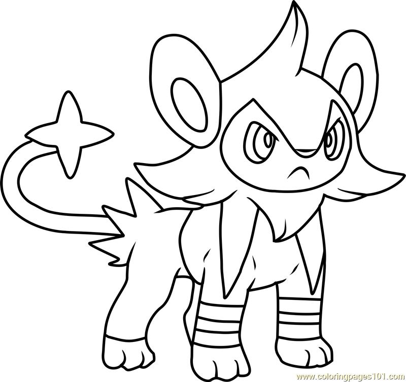 800x754 Luxio Pokemon Coloring Page