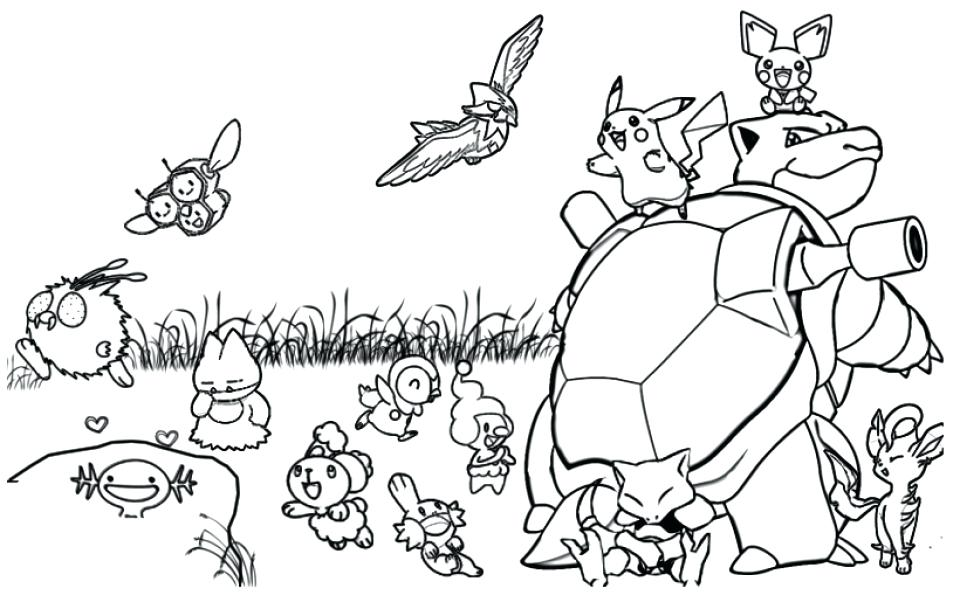 960x616 Pokeman Coloring Pages Printable Coloring Page Pokemon Printable