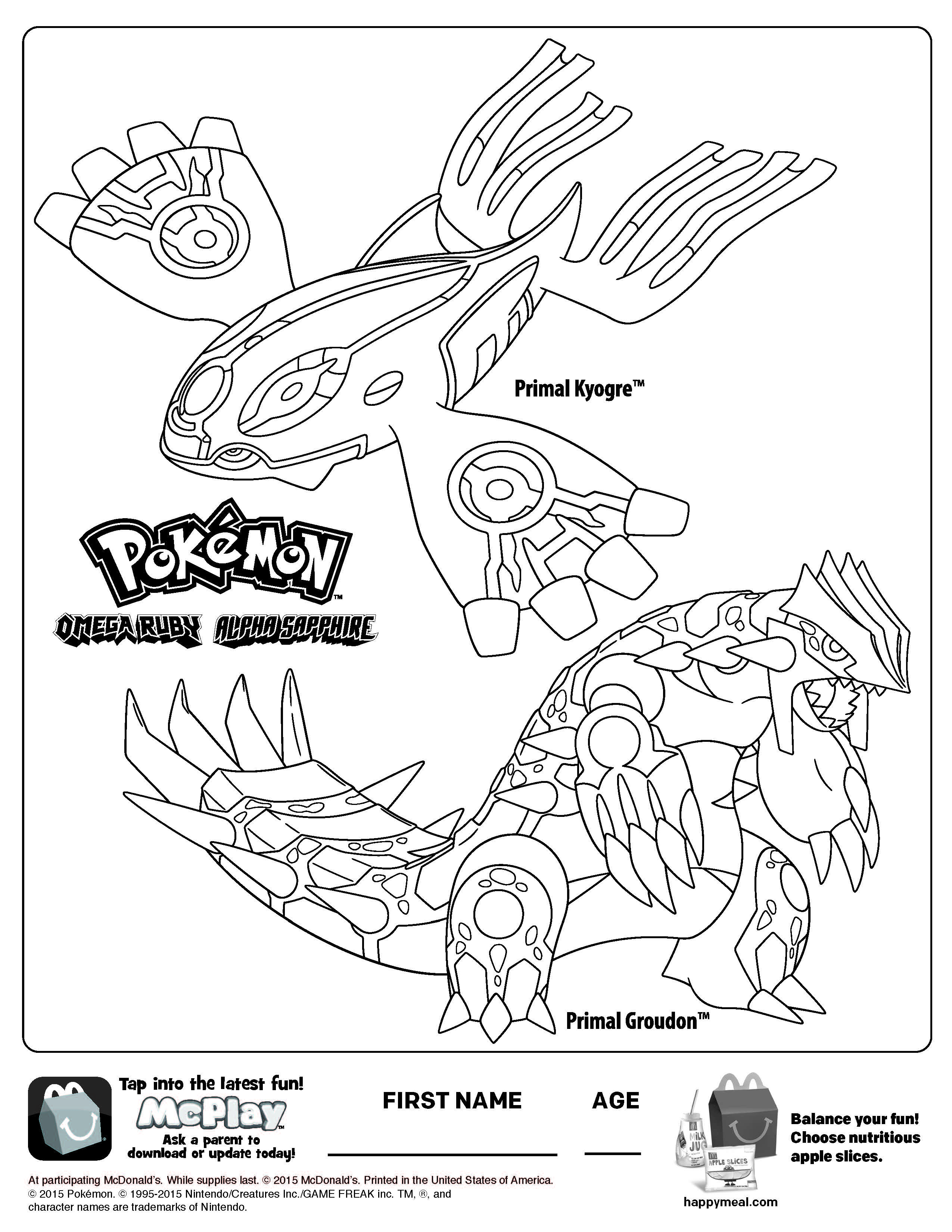 2550x3300 Printable Groudon Coloring Pages Pokemon Cartoons Primal Sheets