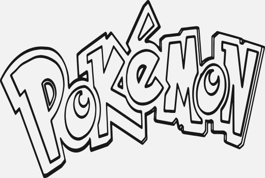 520x350 Beautiful Pokemon Logo Coloring Pages Awesome
