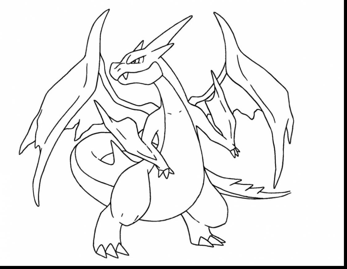 graphic about Charizard Printable titled Pokemon Mega Charizard Coloring Webpages at