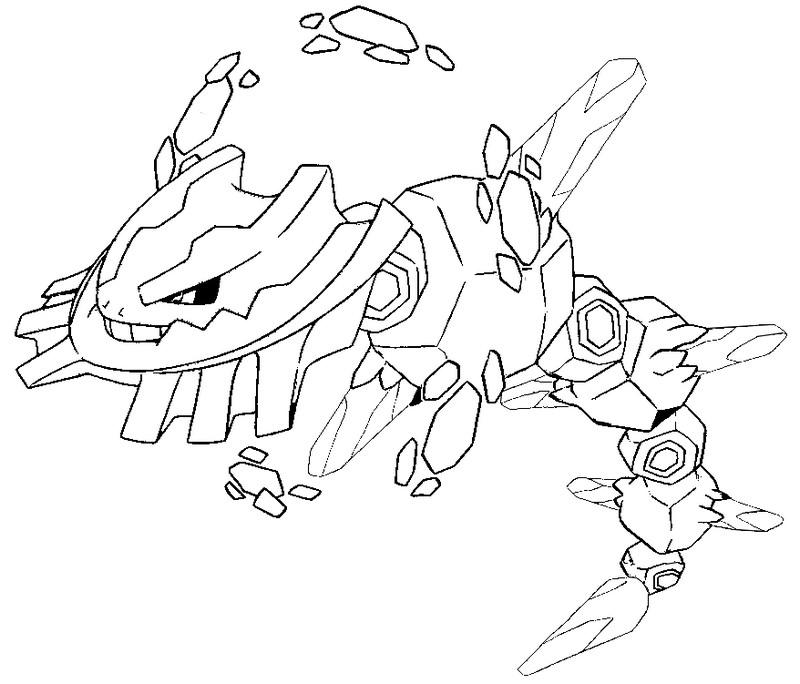 800x684 Coloring Page Mega Evolved Pokemon Mega Steelix