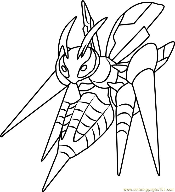 731x800 Mega Beedrill Pokemon Coloring Page