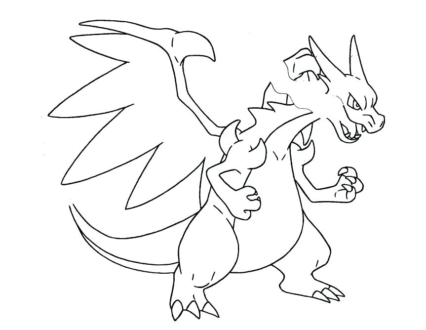 863x668 Mega Evolution Coloring Pages X Y Ex Page Download Print Charizard