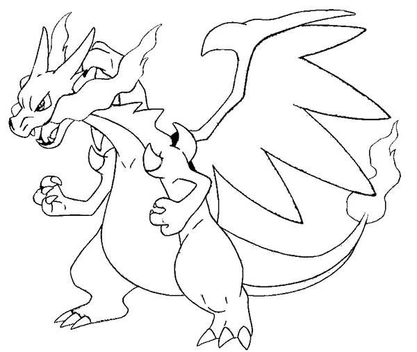 600x507 Pokemon Coloring Pages Mega Evolution Pics Salamence Evolved