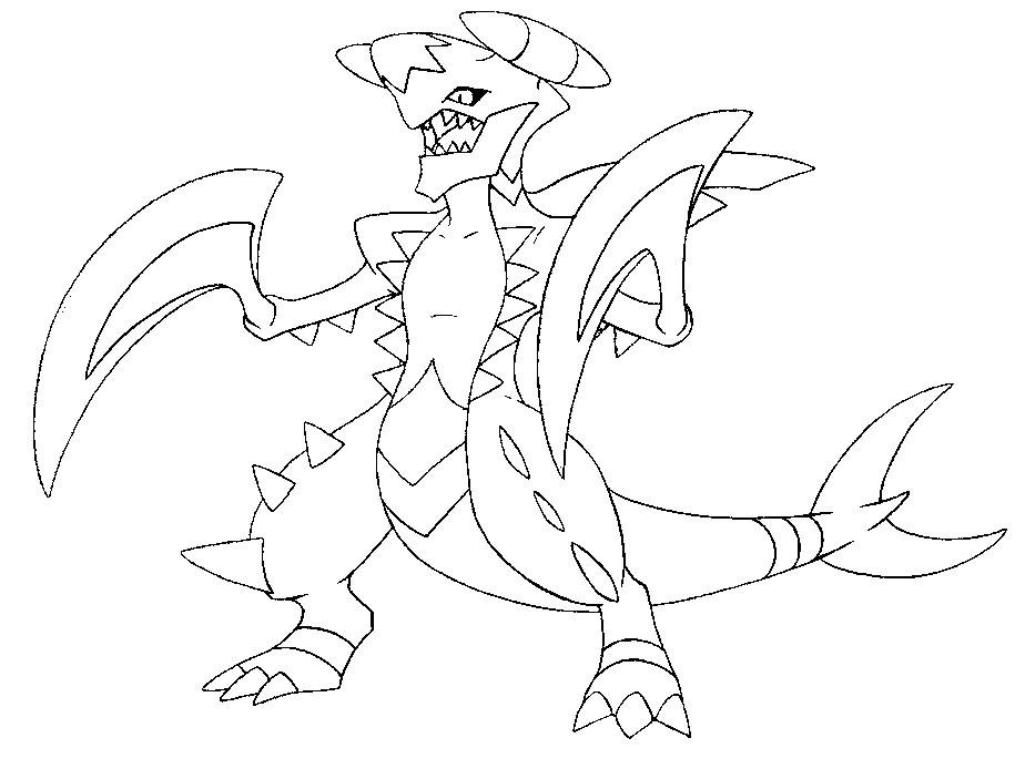 924x703 Pokemon Mega Garchomp Coloring Pages