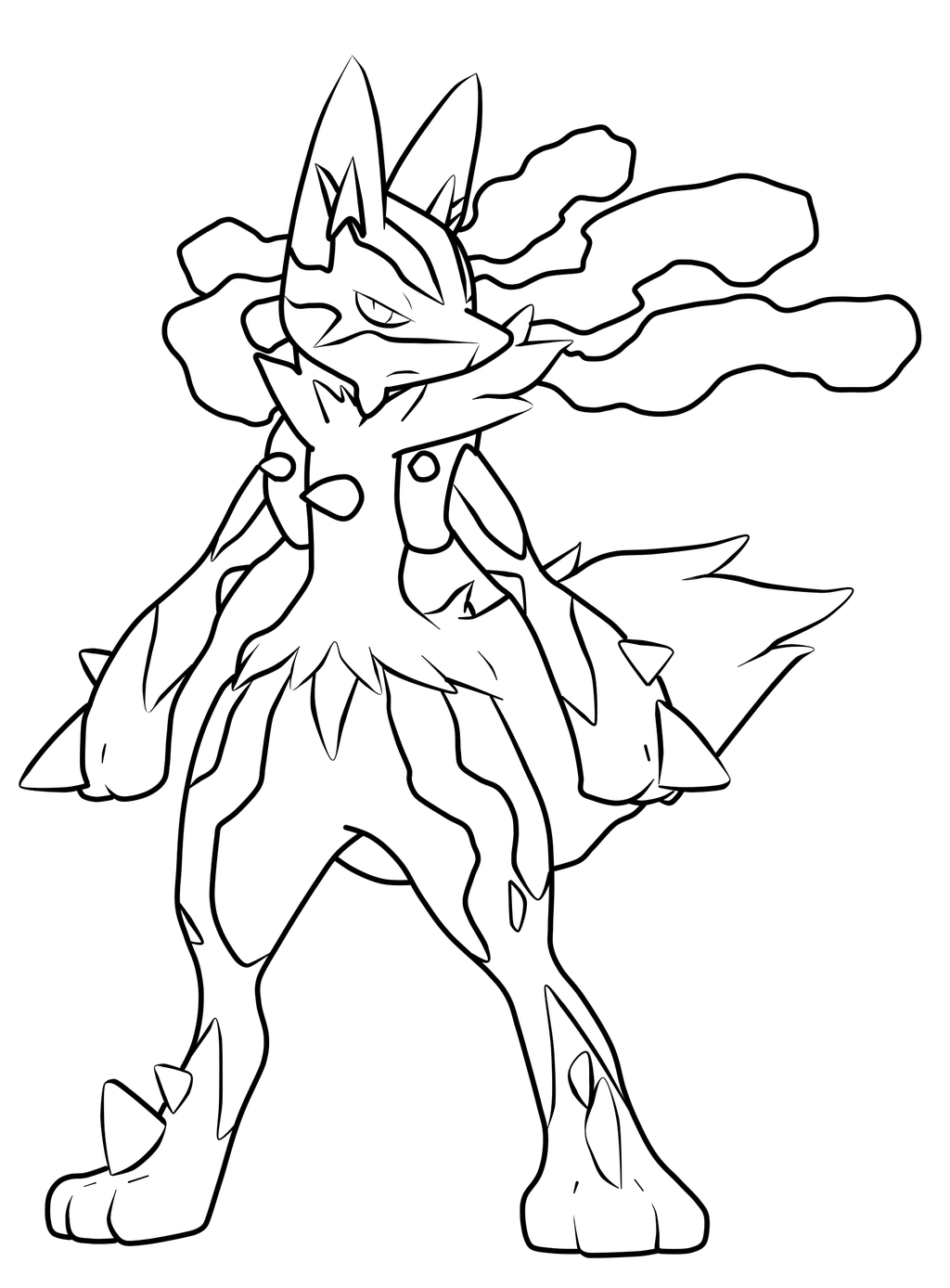 1024x1388 Mega Lucario Pokemon Drawings