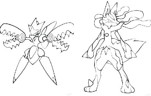 489x311 Coloring Pages Coloring Pages Of Lucario Coloring Pages Mega Page