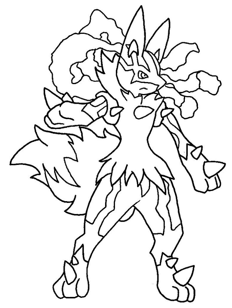 777x1029 Easily Coloring Pages Of Lucario Fancy Pokemon