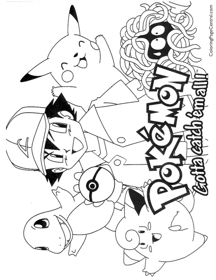 Pokemon Mew Coloring Pages