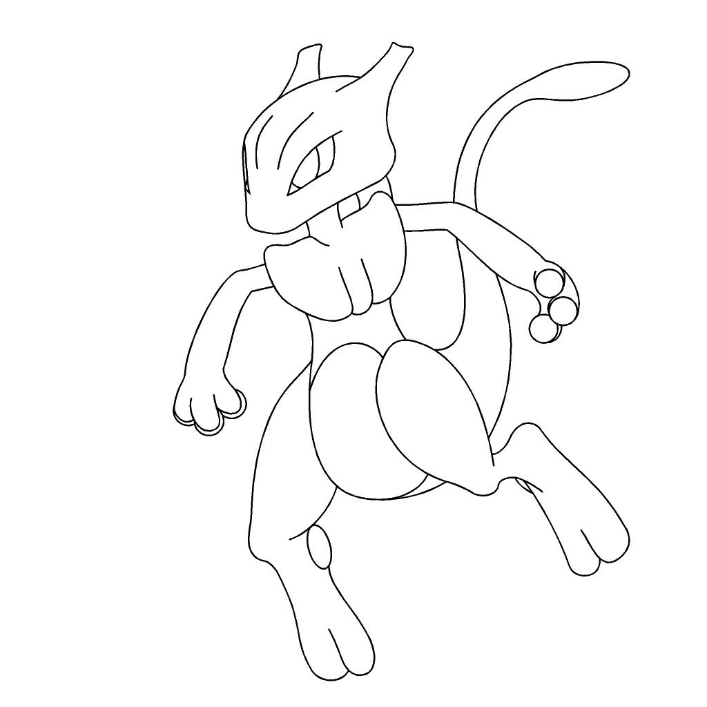Pokemon Mewtwo Coloring Pages at GetDrawings | Free download